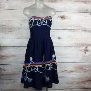 Anthropologie wakana koike strapless Dress Size 10